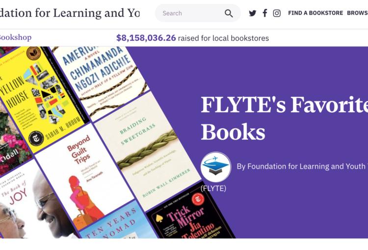 FLYTE Bookshop page